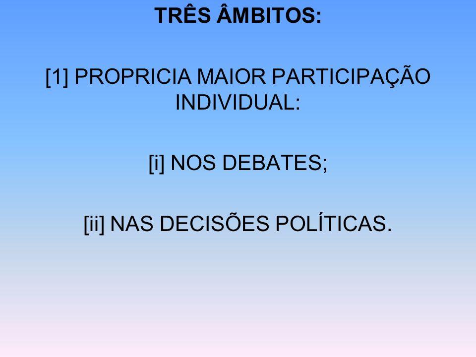[1] PROPRICIA MAIOR PARTICIPAÇÃO INDIVIDUAL: